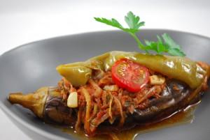 Typische türkische Vorspeise aus Aubergine